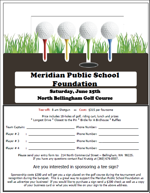 2011 MPSF Golf Tournament Signup Sheet » Meridian Public School ...